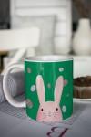 Кружка с вашим текстом Пасхальный кролик