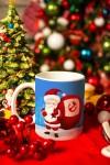 Кружка новогодняя с вашим текстом Дед Мороз