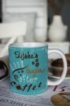 Кружка с вашим текстом День начинается с кофе