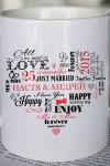 Кружка с вашим текстом Сердце влюбленных
