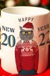 Кружка новогодняя с вашим текстом Новогодние хипстеры