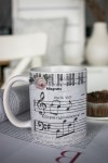 Кружка с вашим текстом Музыка