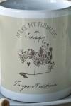 Кружка с вашим текстом Happy flowers
