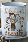 Кружка с вашим текстом My family