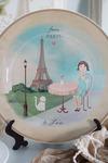 Тарелка декоративная с вашим текстом Города