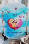 Тарелка декоративная с вашим текстом Птички