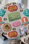Тарелка декоративная с вашим текстом Желаю тебе много путешествий!