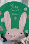 Тарелка декоративная с вашим текстом Пасхальный кролик
