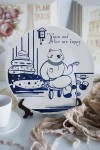 Тарелка декоративная с вашим текстом В гостях