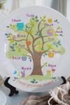Тарелка декоративная с вашим текстом Семейное дерево
