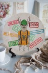 Тарелка декоративная с вашим текстом Олень