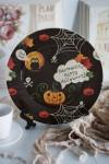 Тарелка декоративная с вашим текстом к Хэллоуину