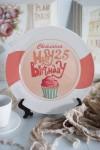 Тарелка декоративная с вашим текстом Happy Birthday!