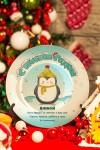 Тарелка с Вашим текстом Пингвин