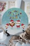 Тарелка с Вашим текстом Новогодняя семья