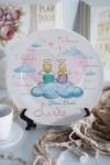 Тарелка декоративная с вашим текстом На облаке любви