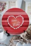 Тарелка декоративная с вашим текстом Be Mine