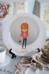 Тарелка декоративная с вашим текстом Девочка-модница