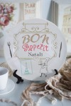 Тарелка декоративная с вашим текстом Bon appetit