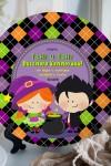 Тарелка декоративная с вашим текстом Веселого Хэллоуина