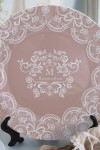 Тарелка декоративная с вашим текстом Кружева