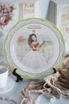 Тарелка декоративная с вашим текстом Леди