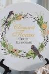 Тарелка декоративная с вашим текстом Пасхальный венок