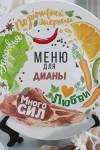 Тарелка декоративная с вашим текстом Меню счастья