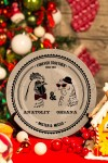 Тарелка декоративная с вашим текстом Mr & Mrs Петухи