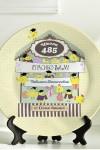 Тарелка декоративная с вашим текстом Веселый курятник