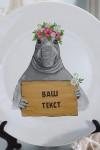 Тарелка декоративная с вашим текстом Ждун