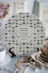 Тарелка декоративная с вашим текстом Собачки