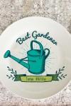 Тарелка декоративная  Вашим текстом Best Gardener