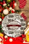 Тарелка декоративная с вашим текстом Новогодняя ферма