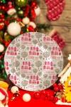 Тарелка декоративная с вашим текстом Зимний город