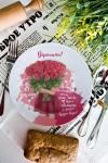 Тарелка декоративная с вашим текстом Море цветов