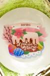 Тарелка декоративная с вашим текстом Пасхальный кулич