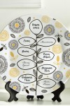 Тарелка декоративная с вашим текстом Семейная ветвь