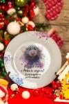 Тарелка декоративная с вашим текстом Мышь