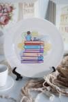 Тарелка с Вашим текстом Книги