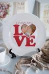 Тарелка декоративная с Вашим фото LOVE