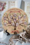 Тарелка декоративная с вашим текстом Семейное древо