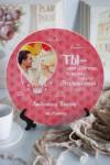 Тарелка декоративная с вашим текстом Воздушный шар