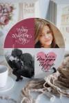 Тарелка декоративная с вашим текстом Романтичный фотоколлаж
