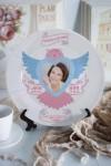 Тарелка декоративная с вашим текстом Для любимой мамы
