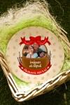 Тарелка декоративная с вашим текстом Пасхальная корзинка