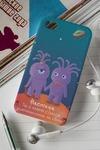 Чехол для iphone 4/4S с вашим текстом Влюбленные звери