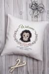 Подушка декоративная с Вашим именем Год обезьяны