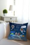 Подушка декоративная с Вашим именем Космос