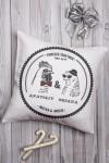 Подушка декоративная с Вашим именем Mr & Mrs Петухи
